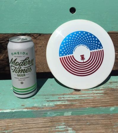 Oneida beer modern times innova disc golf leopard