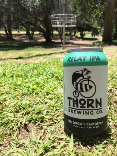 relay IPA disc golf thorn brewing morley field san diego